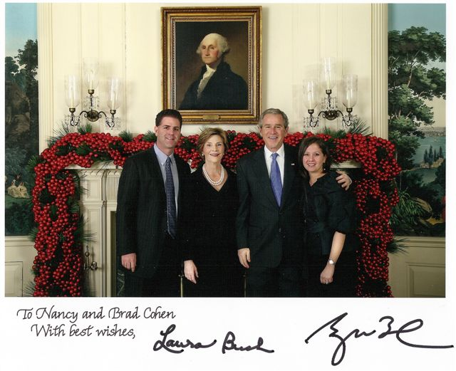 Brad and Nancy Meet President Bush and the First Lady